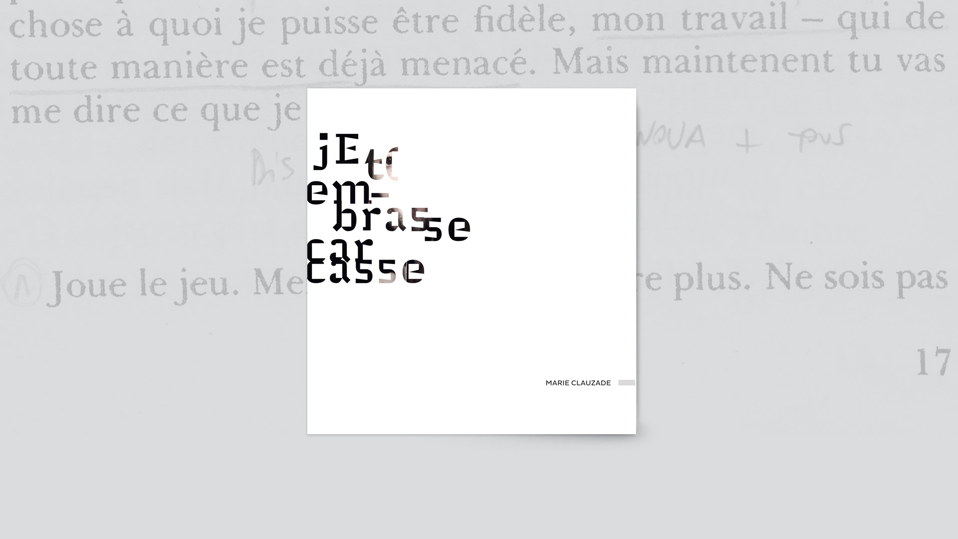 catalogue - jE t(embrasse carcasse - © Marie Clauzade - La Bulle Bleue - Les Éditions de l'Appartement